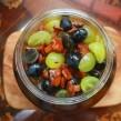 Raisins et girolles au vinaigre