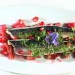 Filets de maquereau à la rhubarbe et à la grenade