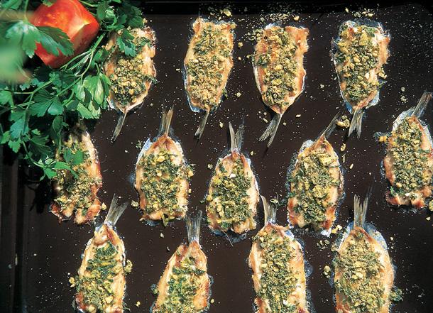 filet sardine four